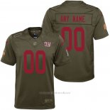 Camiseta NFL Limited Nino New York Giants Personalizada Salute To Service Verde