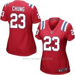 Camiseta New England Patriots Chung Rojo Nike Game NFL Mujer