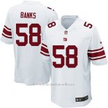 Camiseta New York Giants Banks Blanco Nike Game NFL Nino