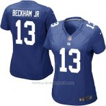 Camiseta New York Giants Beckham Jr Nike Game NFL Azul Mujer