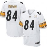 Camiseta Pittsburgh Steelers Brown Blanco Nike Elite NFL Hombre