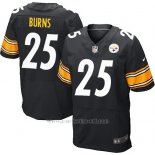 Camiseta Pittsburgh Steelers Burns Negro Nike Elite NFL Hombre