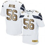 Camiseta Seattle Seahawks Avril Blanco Nike Gold Elite NFL Hombre