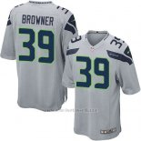 Camiseta Seattle Seahawks Browner Gris Nike Game NFL Nino