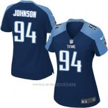 Camiseta Tennessee Titans Johnson Azul Oscuro Nike Game NFL Mujer