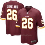 Camiseta Washington Redskins Breeland Rojo Nike Game NFL Marron Hombre