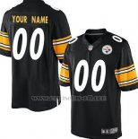 Camisetas NFL Limited Hombre Pittsburgh Steelers Personalizada Negro