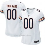 Camisetas NFL Limited Mujer Chicago Bears Personalizada Blanco