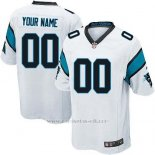 Camisetas NFL Replica Hombre Carolina Panthers Personalizada Blanco