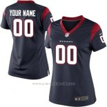 Camisetas NFL Replica Mujer Houston Texans Personalizada Azul