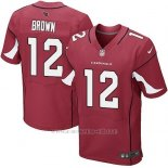 Camiseta Arizona Cardinals Brown Rojo Nike Elite NFL Hombre