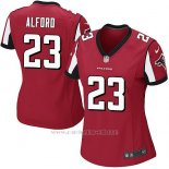 Camiseta Atlanta Falcons Alford Rojo Nike Game NFL Mujer