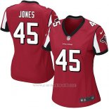 Camiseta Atlanta Falcons Jones Rojo Nike Game NFL Mujer