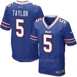 Camiseta Buffalo Bills Taylor Azul Nike Elite NFL Hombre