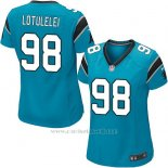Camiseta Carolina Panthers Lotulelei Lago Azul Nike Game NFL Mujer