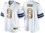 Camiseta Dallas Cowboys Romo Blanco Nike Gold Game NFL Hombre