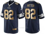 Camiseta Dallas Cowboys Witten Profundo Azul Nike Gold Game NFL Hombre