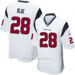 Camiseta Houston Texans Blue Blanco Nike Game NFL Hombre