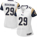 Camiseta Los Angeles Rams Dickerson Blanco Nike Game NFL Mujer