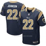 Camiseta Los Angeles Rams Johnson Profundo Azul Nike Elite NFL Hombre