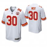Camiseta NFL Game Hombre Kansas City Chiefs Charcandrick West Blanco