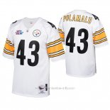 Camiseta NFL Game Hombre Pittsburgh Steelers 43 Troy Polamalu 2005 Autentico Blanco