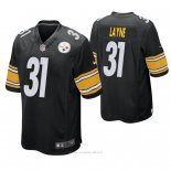 Camiseta NFL Game Hombre Pittsburgh Steelers Justin Layne Negro