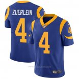 Camiseta NFL Game Los Angeles Rams 4 Greg Zuerlein Alternate Azul