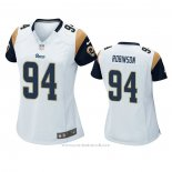 Camiseta NFL Game Mujer Los Angeles Rams A'shawn Robinson Blanco