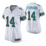 Camiseta NFL Game Mujer Miami Dolphins Ryan Fitzpatrick Throwback Blanco