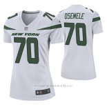 Camiseta NFL Game Mujer New York Jets Kelechi Osemele Blanco