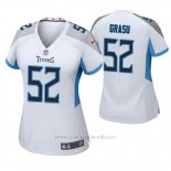 Camiseta NFL Game Mujer Tennessee Titans Hronis Grasu Blanco