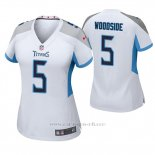 Camiseta NFL Game Mujer Tennessee Titans Logan Woodside Blanco