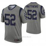 Camiseta NFL Legend Hombre Los Angeles Rams 52 Clay Matthews Inverted Gris