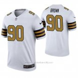 Camiseta NFL Legend Hombre New Orleans Saints Malcom Brown Blanco Color Rush