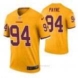 Camiseta NFL Legend Washington Redskins Da'ron Payne Color Rush Amarillo
