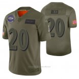 Camiseta NFL Limited Baltimore Ravens Ed Reed 2019 Salute To Service Verde