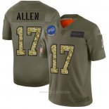 Camiseta NFL Limited Buffalo Bills Allen 2019 Salute To Service Verde
