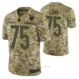 Camiseta NFL Limited Chicago Bears 75 Kyle Long 2018 Salute To Service Camuflaje