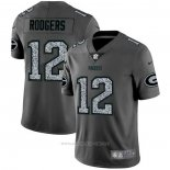 Camiseta NFL Limited Green Bay Packers Rodgers Static Fashion Gris