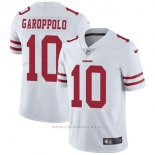 Camiseta NFL Limited Hombre 10 Garoppolo San Francisco 49ers Blanco