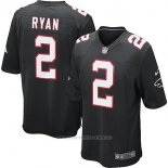 Camiseta NFL Limited Hombre Atlanta Falcons 2 Matt Ryan Negro