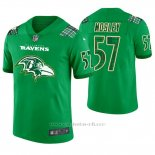 Camiseta NFL Limited Hombre Baltimore Ravens C.j. Mosley St. Patrick's Day Verde
