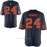 Camiseta NFL Limited Hombre Chicago Bears 24 Jordan Howard Throwback Game Azul