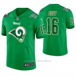 Camiseta NFL Limited Hombre Los Angeles Rams Jared Goff St. Patrick's Day Verde