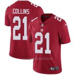 Camiseta NFL Limited Hombre New York Giants 21 Landon Collins Rojo Alterno Stitched Vapor Untouchable