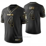 Camiseta NFL Limited Hombre Oakland Raiders Derek Carr Golden Edition Negro