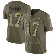 Camiseta NFL Limited Hombre Philadelphia Eagles 17 Alshon Jeffery 2017 Salute To Service Camo