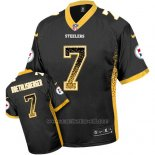 Camiseta NFL Limited Hombre Pittsburgh Steelers 7 Ben Roethlisberger Negro Stitched Drift Fashion