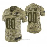 Camiseta NFL Limited Mujer Chicago Bears Personalizada 2018 Salute To Service Verde
